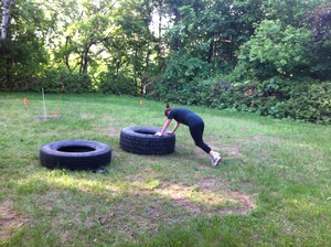 <b>Making use of our resources! Mountain climbers on the tire.</b>
